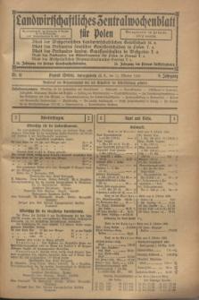 Landwirtschaftliches Zentralwochenblatt für Polen. Jg.9, Nr. 41 (12 Oktober 1928)