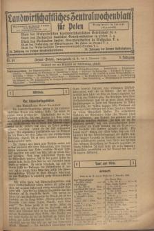 Landwirtschaftliches Zentralwochenblatt für Polen. Jg.9, Nr. 45 (9 November 1928)