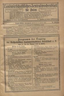 Landwirtschaftliches Zentralwochenblatt für Polen. Jg.10, Nr. 2 (11 Januar 1929)