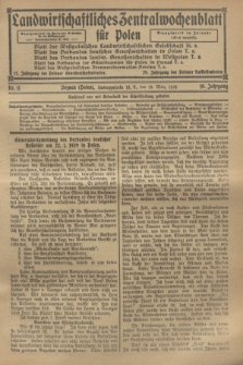 Landwirtschaftliches Zentralwochenblatt für Polen. Jg.10, Nr. 11 (15 März 1929)
