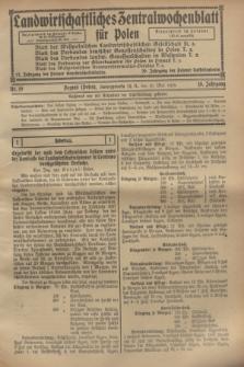Landwirtschaftliches Zentralwochenblatt für Polen. Jg.10, Nr. 19 (10 Mai 1929)