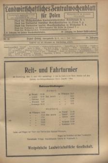 Landwirtschaftliches Zentralwochenblatt für Polen. Jg.10, Nr. 23 (7 Juni 1929) + dod.