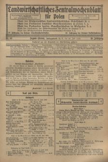 Landwirtschaftliches Zentralwochenblatt für Polen. Jg.10, Nr. 30 (26 Juli 1929)