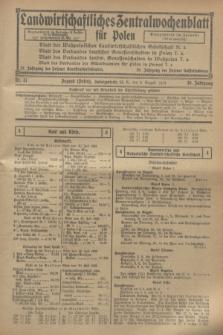 Landwirtschaftliches Zentralwochenblatt für Polen. Jg.10, Nr. 31 (2 August 1929)