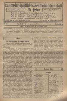 Landwirtschaftliches Zentralwochenblatt für Polen. Jg.10, Nr. 38 (20 September 1929) + dod.