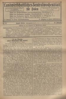 Landwirtschaftliches Zentralwochenblatt für Polen. Jg.10, Nr. 39 (27 September 1929)