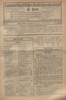 Landwirtschaftliches Zentralwochenblatt für Polen. Jg.10, Nr. 40 (4 Oktober 1929) + wkładka