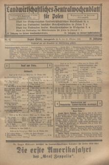 Landwirtschaftliches Zentralwochenblatt für Polen. Jg.10, Nr. 42 (18 Oktober 1929)