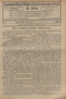 Landwirtschaftliches Zentralwochenblatt für Polen. Jg.10, Nr. 45 (8 November 1929)