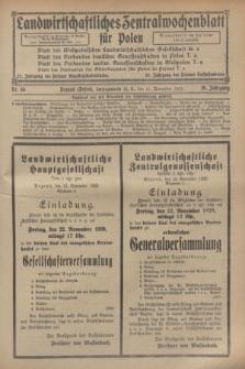 Landwirtschaftliches Zentralwochenblatt für Polen. Jg.10, Nr. 46 (15 November 1929)