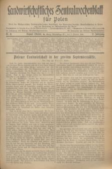 Landwirtschaftliches Zentralwochenblatt für Polen : Blatt der Westpolnischen Landwirtschaftlichen Gesellschaft, des Verbandes deutscher Genossenschaften in Polen und des Verbandes der Güterbeamten für Polen. Jg.17, Nr. 41 (7 Oktober 1936) + dod.