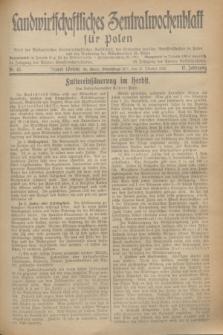 Landwirtschaftliches Zentralwochenblatt für Polen : Blatt der Westpolnischen Landwirtschaftlichen Gesellschaft, des Verbandes deutscher Genossenschaften in Polen und des Verbandes der Güterbeamten für Polen. Jg.17, Nr. 43 (21 Oktober 1936) + dod.
