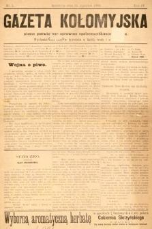 Gazeta Kołomyjska : pismo poświęcone sprawom spoleczno-ekonomicznym. 1892, nr2