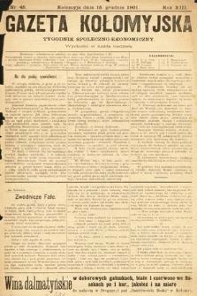 Gazeta Kołomyjska : tygodnik społeczno-ekonomiczny. 1901, nr45