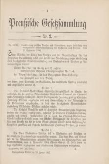 Preußische Gesetzsammlung. 1907, Nr. 2 (23 Januar)
