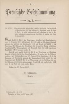 Preußische Gesetzsammlung. 1907, Nr. 3 (28 Januar)