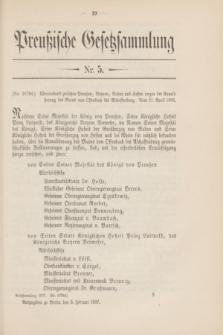 Preußische Gesetzsammlung. 1907, Nr. 5 (5 Februar)
