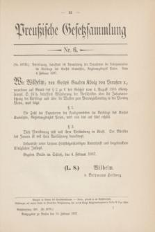 Preußische Gesetzsammlung. 1907, Nr. 6 (18 Februar)