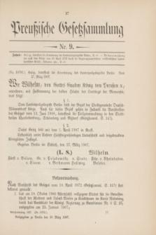 Preußische Gesetzsammlung. 1907, Nr. 9 (30 März)