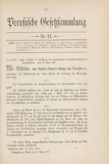 Preußische Gesetzsammlung. 1907, Nr. 11 (30 März)