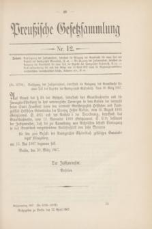 Preußische Gesetzsammlung. 1907, Nr. 12 (22 April)
