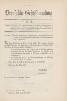 Preußische Gesetzsammlung. 1907, Nr. 16 (24 Mai)
