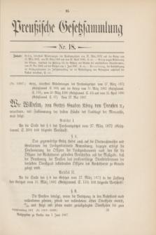 Preußische Gesetzsammlung. 1907, Nr. 18 (5 Juni)