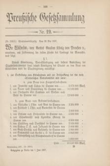 Preußische Gesetzsammlung. 1907, Nr. 19 (7 Juni)