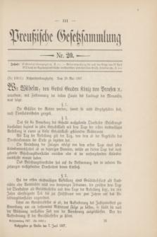 Preußische Gesetzsammlung. 1907, Nr. 20 (7 Juni)