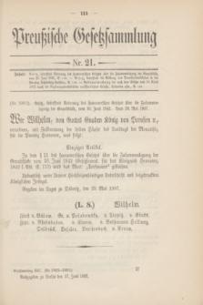 Preußische Gesetzsammlung. 1907, Nr. 21 (17 Juni)
