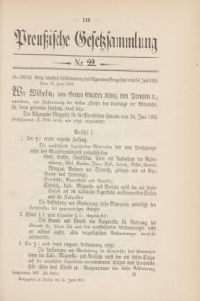 Preußische Gesetzsammlung. 1907, Nr. 22 (22 Juni)