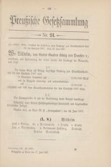 Preußische Gesetzsammlung. 1907, Nr. 24 (27 Juni)
