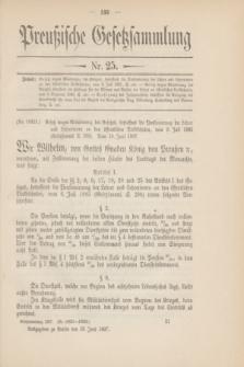 Preußische Gesetzsammlung. 1907, Nr. 25 (28 Juni)