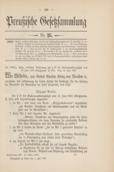 Preußische Gesetzsammlung. 1907, Nr. 26 (1 Juli)