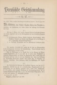 Preußische Gesetzsammlung. 1907, Nr. 27 (6 Juli)