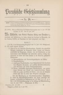 Preußische Gesetzsammlung. 1907, Nr. 28 (6 Juli)