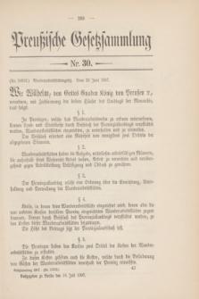 Preußische Gesetzsammlung. 1907, Nr. 30 (16 Juli)