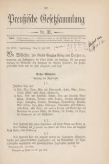 Preußische Gesetzsammlung. 1907, Nr. 31 (27 Juli)