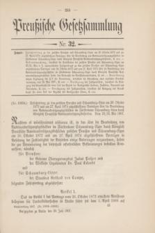 Preußische Gesetzsammlung. 1907, Nr. 32 (30 Juli)