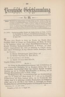 Preußische Gesetzsammlung. 1907, Nr. 33 (13 August)