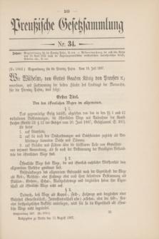 Preußische Gesetzsammlung. 1907, Nr. 34 (13 August)