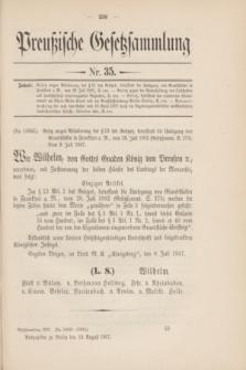 Preußische Gesetzsammlung. 1907, Nr. 35 (19 August)
