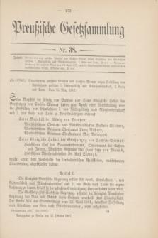 Preußische Gesetzsammlung. 1907, Nr. 38 (11 Oktober)