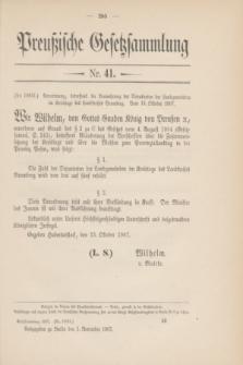 Preußische Gesetzsammlung. 1907, Nr. 41 (1 November)