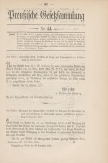Preußische Gesetzsammlung. 1907, Nr. 44 (28 November)