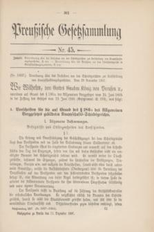 Preußische Gesetzsammlung. 1907, Nr. 45 (11 Dezember)