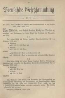 Preußische Gesetzsammlung. 1908, Nr. 9 (1 April)