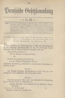 Preußische Gesetzsammlung. 1908, Nr. 33 (3 September)