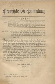 Preußische Gesetzsammlung. 1909, Nr. 1 (26 Januar)