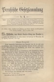 Preußische Gesetzsammlung. 1909, Nr. 2 (12 Februar)